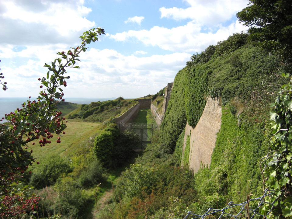 Part of the southern defences photo Charles Taylor