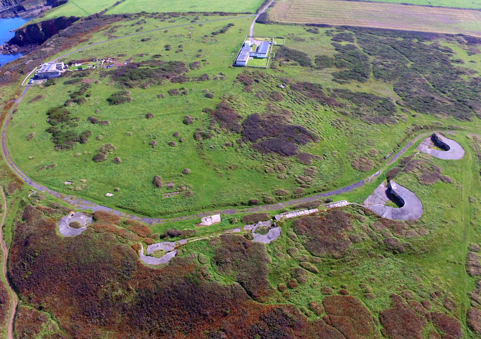 Aerial photo of East Blockhouse Battery ©Paul R. Davis