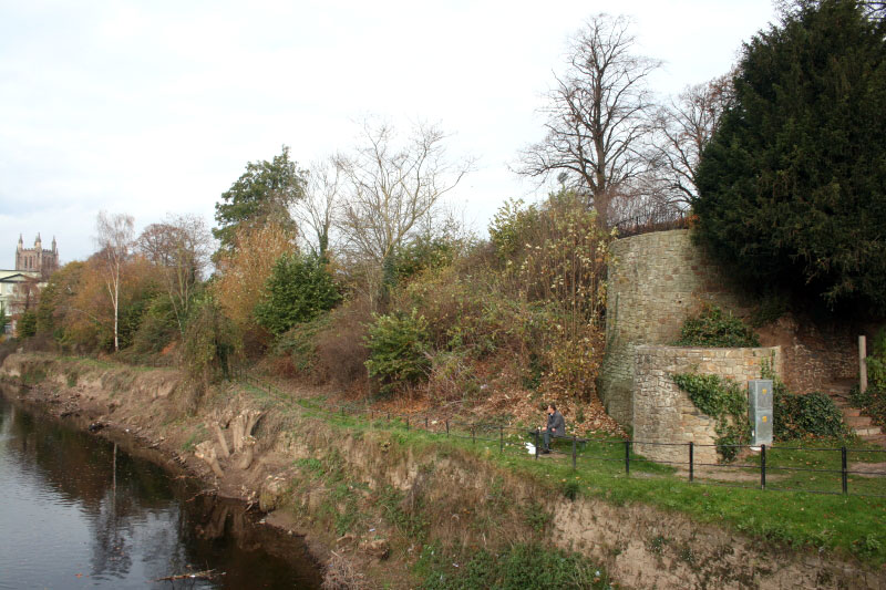 Castle site from the river ©Andrew Tivenan