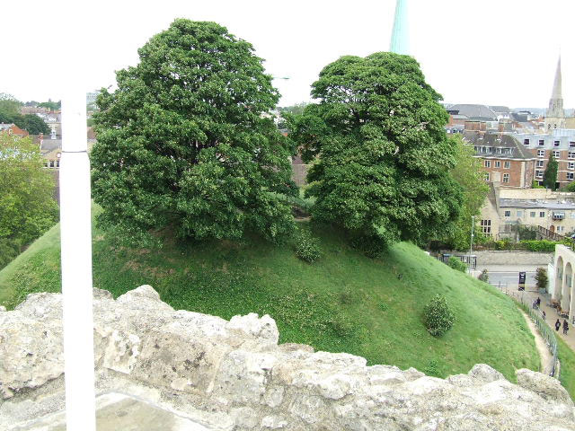 The motte from the tower photo Symon Walker