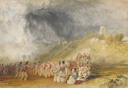 Winchelsea, Soldiers on the March c1828 © The British Museum